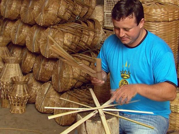 artesanato de bambu para jardim: de bambu prejudica produção de artesanato em Baependi – notícias em