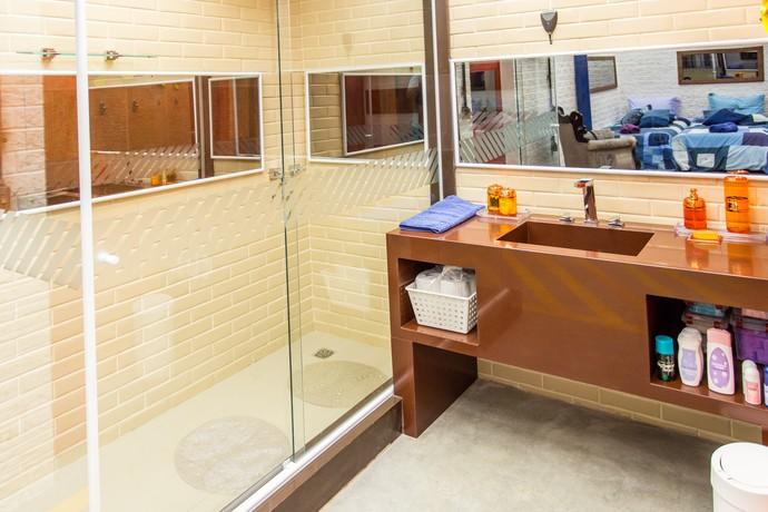 Banheiro do segundo andar BBB16 (Foto: Felipe Monteiro/Gshow)