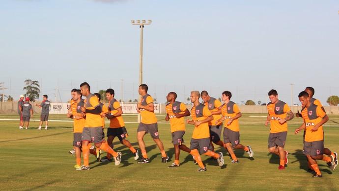 CRB treino físico (Foto: Denison Roma / GloboEsporte.com)