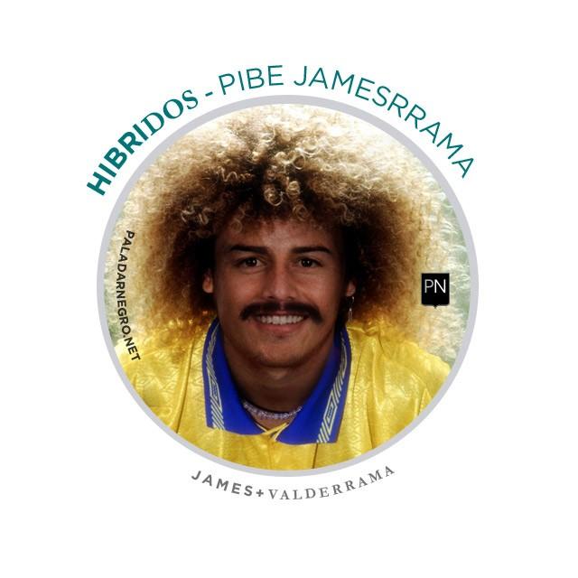 Jamesrrama, mistura de James Rodríguez com Valderrama