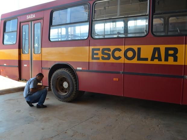 60 ônibus serão fiscalizados em Ji-Paraná (Foto: Pâmela Fernandes/G1)