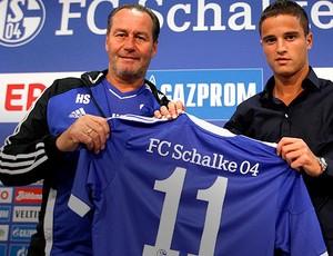 Ibrahim Afellay apresentado no Schalke (Foto: Reuters)