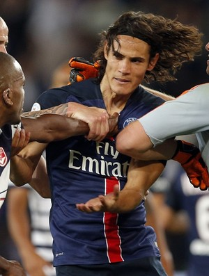 Cavani e Belay brigam Paris Saint-Germain PSG x Bordeaux blog