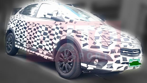 Chevrolet Onix Activ flagrado (Foto: Autoesporte)