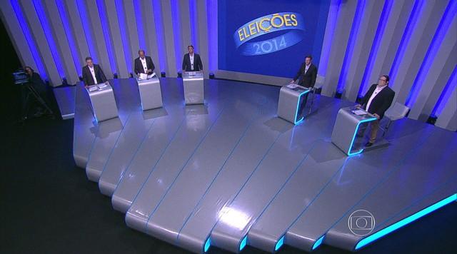 Candidatos ao governo do Rio mais bem colocados nas pesquisas participam de debate