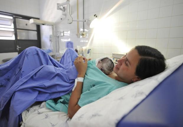 Parto ; cesárea ; cesareana ; saúde ; hospital ; nascimento do bebê ; rede pública de saúde ;  (Foto: Marcelo Camargo/Agência Brasil)