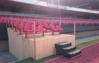 Veja fotos do protótipo da cobertura do fosso do estádio do Morumbi