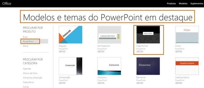 5fedf9414a547 Acesse o site da Microsoft com os templates para PowerPoint (Foto   Reprodução Barbara
