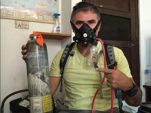 Rosier se prepara no Nepal para escalar o ponto mais alto do planeta Terra (Foto: Arquivo pessoal)