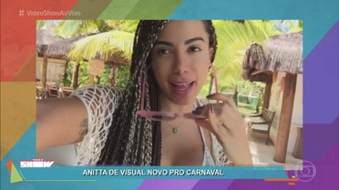 Anitta muda o visual para o Carnaval 2017