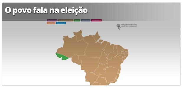 Infográfico: A povo tuíta (Foto: Arte G1)