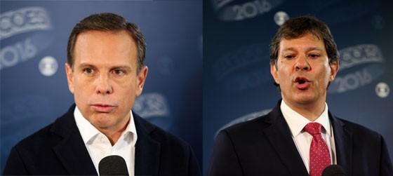 Fernando Haddad e João Doria (Foto: Neves / A7 Press / Agência O Globo,CHELLO / FRAMEPHOTO / Agência O Globo)