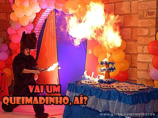 Vai um docinho queimado, aí?? KKKKKKKKKKKKKKK  (Foto: Malhação / Tv Globo)