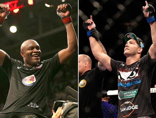 montagem Anderson Silva e Chris Weidman UFC (Foto: Editoria de Arte)