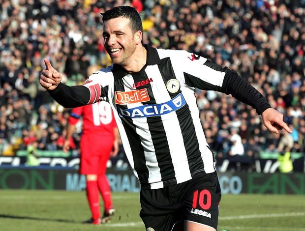 Di Natale comemora gol da Udinese contra a Inter de milão (Foto: Getty Images)