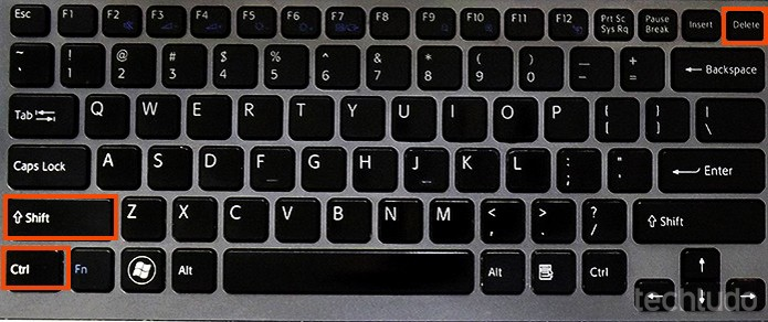 Atalho para limpar o cache dos navegadores (Foto: Barbara Mannara/TechTudo)