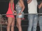 Juntinhas, Andressa Urach e Camila Vernaglia curtem show