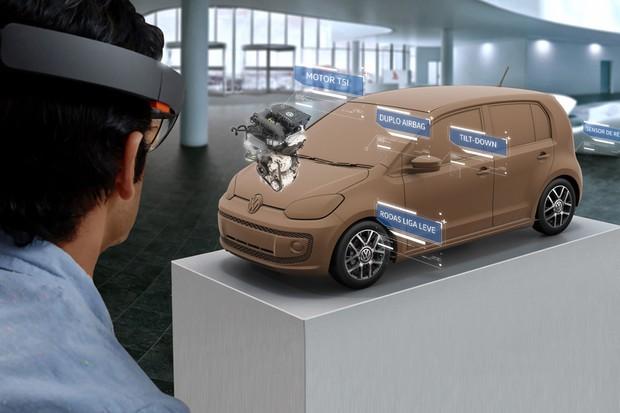 Óculos de realidade aumentada da Volkswagen para o Salão do Automóvel de São Paulo (Foto: Divulgação)