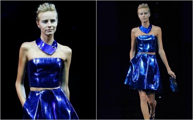 Modelos esquelticas da Armani (Foto: Reproduo / Getty Images)