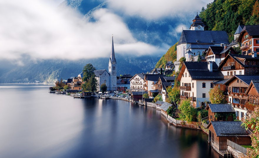 Hallstatt, na Áustria (Foto: Divulgação)
