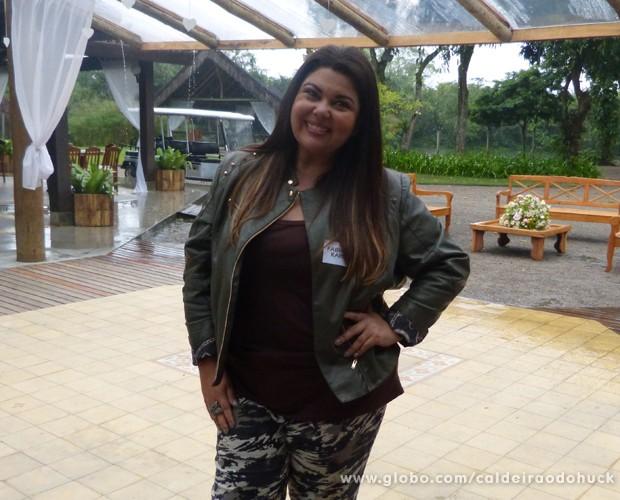 Fabiana Karla abre o coração sobre sucesso (Foto: TV Globo/ Caldeirão)