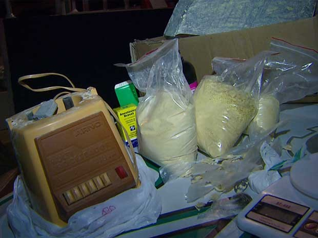 Guarda Municipal apreende 20 kg de pasta base de cocaína em Indaiatuba (Foto: Reprodução EPTV)