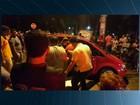 Homem é preso após bater em carro durante perseguição policial, em GO