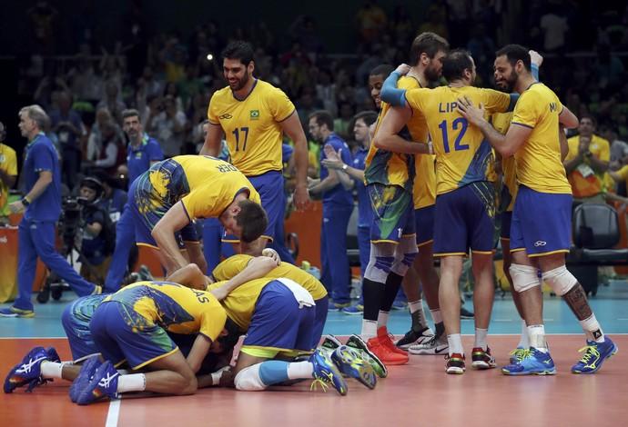 Brasil x Rússia semifinal vôlei masculino Rio 2016 (Foto: Ricardo Moraes/Reuters)