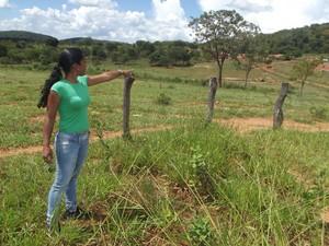 terreno do marilda em Montes Claros (Foto: Thiago  França/G1)