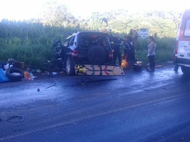 Cinco pessoas morreram em acidente no Norte do Rio Grande do Sul (Foto: Portal Nonoai)