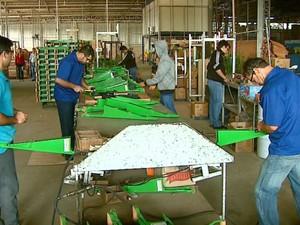 Vendas caíram 30% nos últimos dois meses em fábrica de implemento agrícola de Matão (Foto: Reprodução/EPTV)