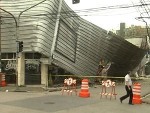 Vítimas de queda de marquise continuam internadas (Foto: Reprodução/TV TEM)