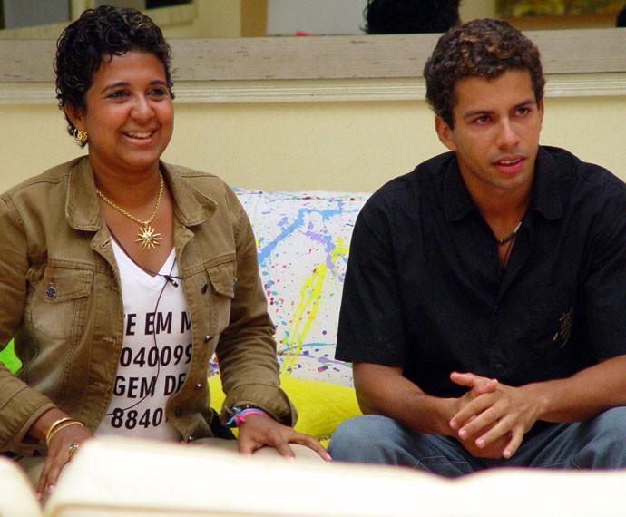 Cida e Thiago eram muito amigos no BBB4 (Foto: Jaq Joner / TV Globo )