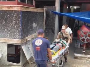Vítimas estavam desorientadas, segundo os bombeiros (Foto: Fabiano Correia/Divulgação)