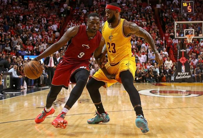 Luol Deng também foi decisivo na vitória do Heat sobre os Cavs (Foto: Getty Images)
