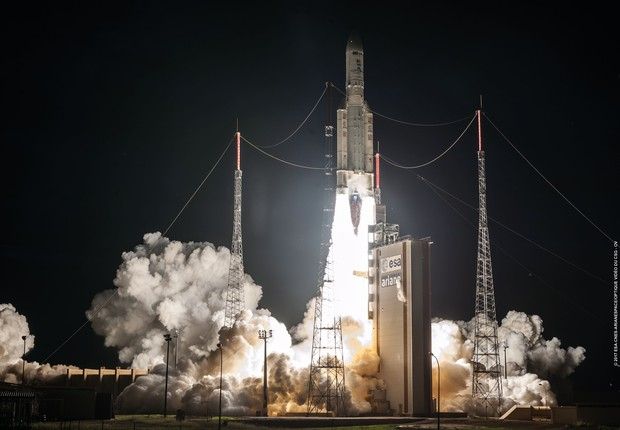 SGDC é lançado na Guiana Francesa (Foto: Divulgação/Arianespace)