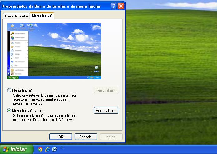 Devolvendo o menu Iniciar clássico no Windows XP (Foto: Reprodução/Edivaldo Brito)