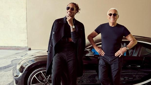 Future, Giorgio Armani e a Bugatti no vídeo da GQ Style americana (Foto: Reprodução/GQ Style)