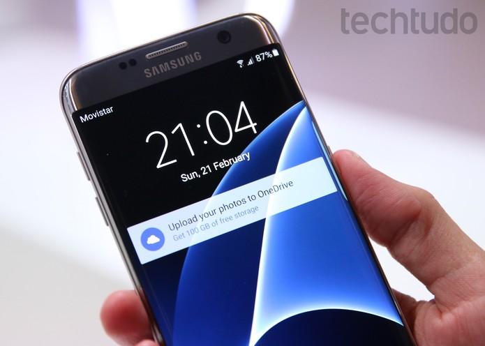 Galaxy S7 Edge (Foto: Fabrício Vitorino/TechTudo)