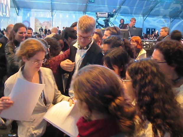 Último dia COP 20 em Lima, no Peru (Foto: Eduardo Carvalho/G1)