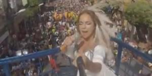 Daniela Mercury filma volta ao Campo Grande a pedido do G1 (Reprodução/G1)