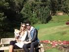 Adriana e Rodrigão curtem viagem romântica a Campos do Jordão