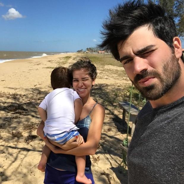 Adriana Sant'Anna com Rodrigão e o filho Rodrigo (Foto: Reprodução/Instagram)
