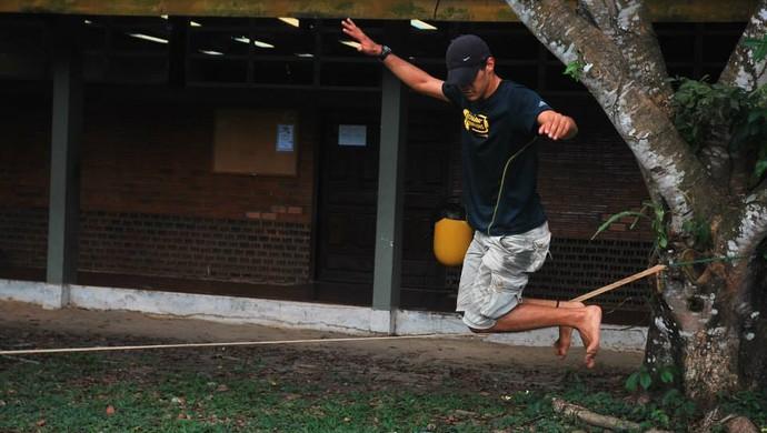 Gustavo Diniz, 23 anos, estudante e praticante de slackline (Foto: Reprodução/Facebook)