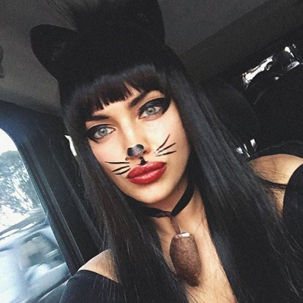 Irina Shayk no Halloween (Foto: Instagram/Reprodução)