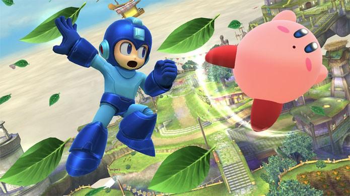 Quem diria que um dia veria Mega Man vs Kirby? (Foto: Divulgação/Nintendo)