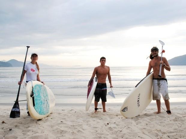 Stand up Paddle é aposta de lazer para temporada no litoral norte de SP 3 (Foto: Daniel Corrá/G1)