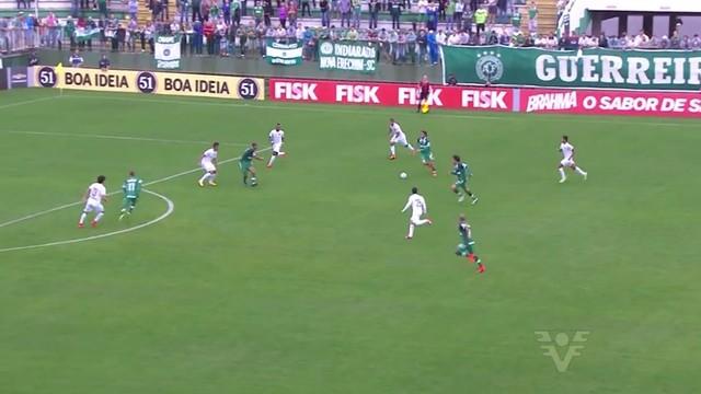 Santos enfrenta o Chapecoense (Foto: Reprodução/TV Tribuna)