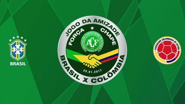 Brasil e Colômbio no Jogo da Amizade (Foto: Reprodução/TV Tribuna)