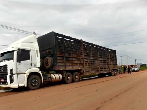 Motorista teria subido na carroceria para conferir a carga (Foto: Alex Cordeiro/ Floresta Net)